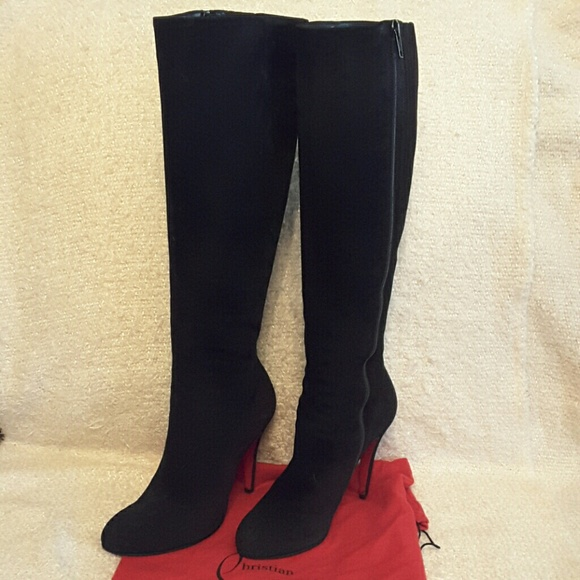 new styles a91a0 fc4ac Christian louboutin Fifi Botta suede 100mm boots